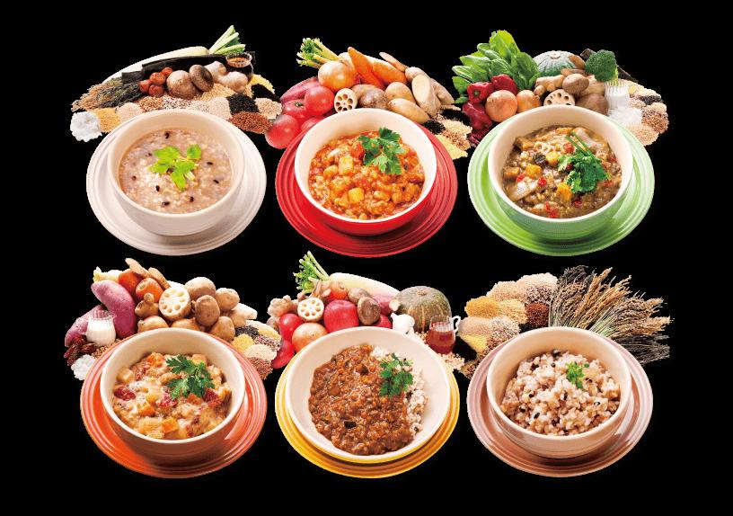 写真④→サポート食の写真
